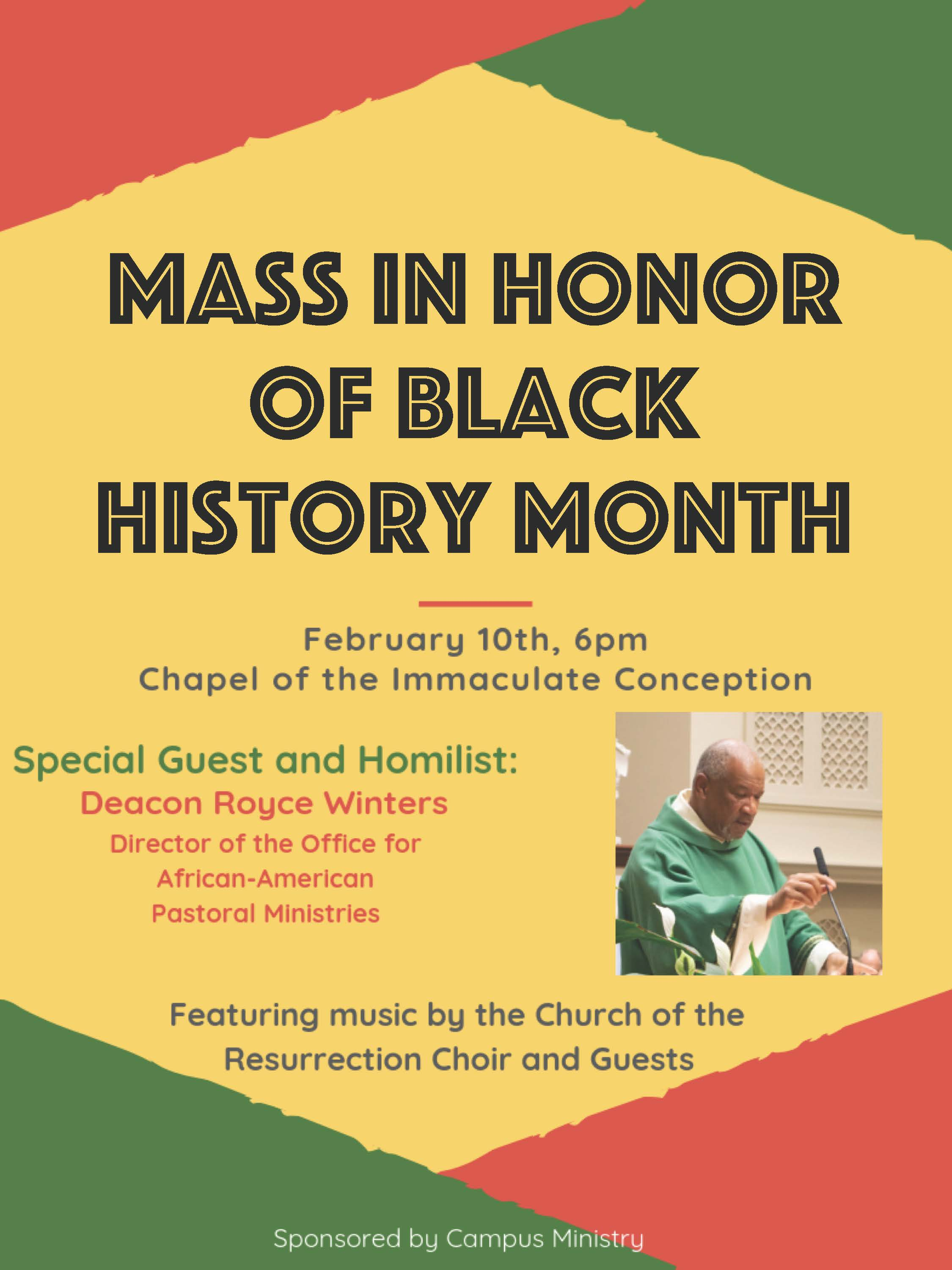 MASS FOR BLACK HISTORY MONTH